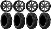 Msa Milled Flash 20 Utv Wheels 33 Motoclaw Tires Polaris Ranger Xp 9/1k