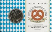 Australia Berlin 2019 1 Pretzel Privy Mark Uncirculated Coin With Pamphlet
