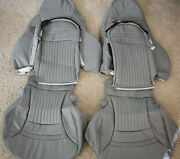 1997-2004 C5 Corvette Replacement Leather Seat Covers Light Grey
