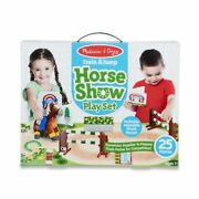 Melissa And Doug Train And Jump Horse Show Play Set 30708 New