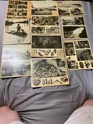 F.e. Compton And Co. Vintage Early Prehistoric 1935 Plates Education Cards Photos