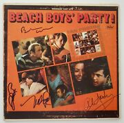 Brian Wilson And Mike Love +2 Signed The Beach Boys Party Vinyl Record Rare Rad