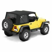 Bestop 54820-17 Supertop Nx Replacement Soft Top Black Twill For Jeep Wrangler