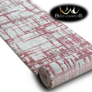 Modern Amazing Very Thick Runner Rugs And039dizaynand039 Pink Width 80cm Extra Long