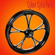 2014-2021 Harley Davidson Touring Black Contrast 21 Inch Front Wheel Cyclone