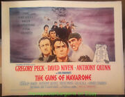 The Guns Of Navarone Movie Poster On Linen 22x28 Rolled Half Sheet Gregory Peck