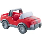 Haba Little Friends Vet Car - Red Plastic Jeep With Momentum Motor