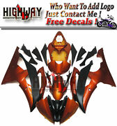 Motorcycle Abs Fairings Body Work Kits Set Fit Yamaha Yzf600 R6 08-15 Painted