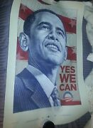 Barack Obama 2008yes We Can Dayal Official Campaign Poster Print Rare Le980