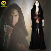 Wonder Woman 1984 Cosplay Costume Dress With Cloak Princess Diana Outfit Women