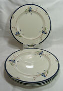 Gorham Usa Town And Country Melon Bud Four 4 Dinner Plates Gc