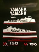 Yamaha 150 Ox66 Saltwater Series Ii Decal Kit This Set White And Red Free Ship