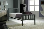 Boston Black 3ft Single Modern Metal Bed Frame With A Choice Of Mattresses