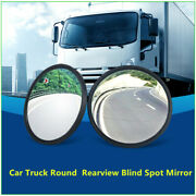 2x Blind Spot Rear View Convex Mirrors Wide-angle Round Stick On For All Cars