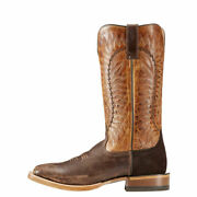 Handmade Menand039s Tan Leather Cowboy Mexican Western Texas Boots