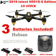 Hubsan H501s S Fpv Drone 1080p Brushless Gps Rc Quadcopter Headless+3 Batteries