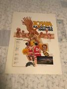 Vintage 1985-86 Iowa Hawkeyes Basketball Poster 23x17 Very Nice Thicker Stock