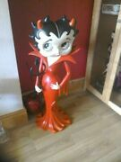 Extremely Rare Betty Boop Lifesize Red Devil Figurine Statue