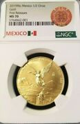 2019 Mexico Gold Libertad 1/2 Onza Ngc Ms 70 First Releases Perfection 1/2 Oz
