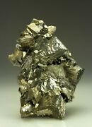 Big Bright Arsenopyrite Crystal Cluster From Panasqueira Portugal