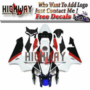 Motorcycle Abs Fairings Body Work Kits Set Fit Honda Cbr600rr F5 05 06 White Red