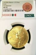 2019 Mexico Gold Libertad 1/2 Onza Ngc Ms 70 First Releases Perfection