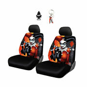 For Toyota New Car Seat Cover Keychain Dc Comics Harley Quinn Free Gift