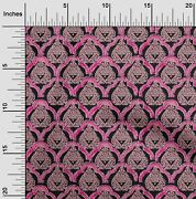 Oneoone Damask And Floral Block Printed Craft Fabric By The Yard - Bp-1272c_32