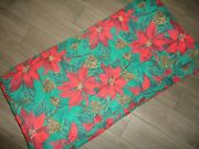 Christmas Poinsettias Pine Green Red Floral Holiday Twin/full Comforter 78 X 86