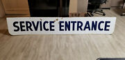 Vintage Service Station Porcelain Sign Gas Oil Double Sided 7and039 Long