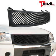 Tidal Upper Full Grill Black Replacement Grille Fit 04-12 Nissian Titan