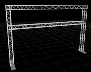 21.7 Ft. W X 13.5 Ft. H Double Post Exhibition Module Tradeshow Booth Wall Truss
