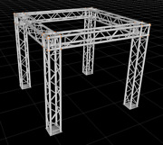 Square Aluminum Truss 7.5ft. W/l X 7ft. H Trade Show Booth Complete Setup Packag
