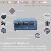 Epa6h Portable Spray Booth Inflatable Paint Mobile Work Station Include Blower