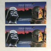 Promo Cards Star Wars Men Behind The Masks Starcon Toronto Show P1 And P2