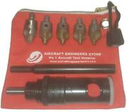 Aircraft Tools Nylon Tip Countersink Cage / Microstop 5pc Fraction Cutter Kit