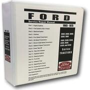5000 Ford Tractor Technical Service Shop Repair Manual Huge 948pgs Color Charts