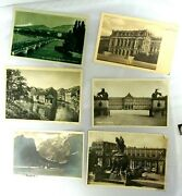 Vintage 5 German Postcards With Stamps 1930/1931/ 1 Ww2 1940 And 1 Swiss 1930