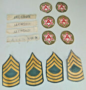 Military Stripes Jackson 6th Army Insignia Arm Patches Badges 50s 60s Vintage Wp