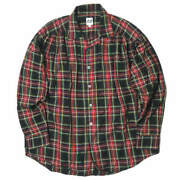 Aie Arts In Education 17aw Painter Shirt Tartan Check S Red Long Sleeves Tops