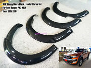 16w Glossy Micra Black For Fender Flares Ford Ranger T6 Mk2 Px2 15-18 Rubber [a]