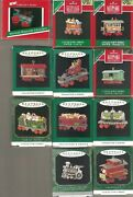 New Hallmark Noel R R Miniature Ornaments Locomotive Gold Pewter Cookie Candy
