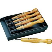 Mikisho Japanese Wood Carving Tools Power Grip Five Pieces Set Kit 4952631800053