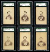 1866 E.s. Sterry And Co Lansingburgh Unions/troy Haymakers Cdvs 1st Baseball Cards