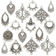 50x Mixed Tibetan Silver Alloy Chandelier Components Links Dangle Charms 2637mm