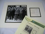 Original Sir Oswald Mosley Hand Written And Hand Signed Note Dated 1970.