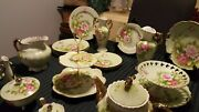 1950and039s Vintage Antigue Lefton Japanese China Green Heritage.