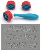 Xiem Clay Pattern And Texture Roller Set B Art Roller Mini Rubber Silicon Roller