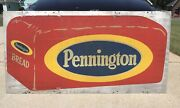 Pennington Bread Rare Vintage 30 X 60 2 Sided Reflective Advertising Sign Gas