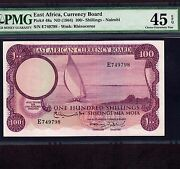 East Africa 100 Shillings 1964 P-48a Pmg Xf 45 Epq Last Note Last Issue